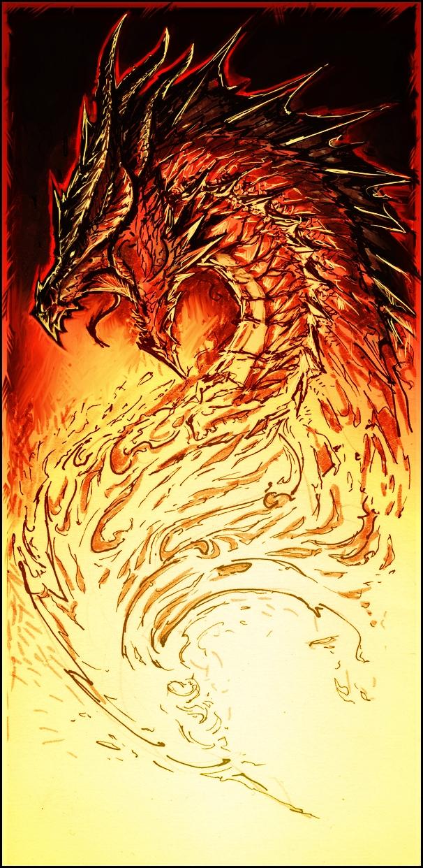 Raging Dragon by YamaO.deviantart.com